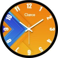 Clarco Designer Analogue Round Glass Wall Clock with 1 Year Warranty And 2 FREE AA Battery, Size(30 cm x 30 cm x 4 cm)(WL_713L)