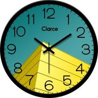 Clarco Designer Analogue Round Glass Wall Clock with 1 Year Warranty And 2 FREE AA Battery, Size(30 cm x 30 cm x 4 cm)(WL_722L)