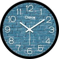 Clarco Designer Analogue Round Glass Wall Clock with 1 Year Warranty And 2 FREE AA Battery, Size(30 cm x 30 cm x 4 cm)(WL_732L)