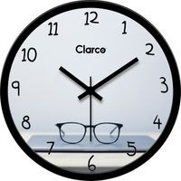 Clarco Designer Analogue Round Glass Wall Clock- Size(30 cm x 30 cm x 4 cm)(WL_721L)