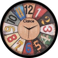 Clarco Designer Analogue Round Glass Wall Clock with 1 Year Warranty And 2 FREE AA Battery, Size(30 cm x 30 cm x 4 cm)(WL_766L)