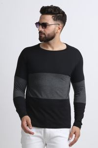 Leotude Multicolor Cotton Round Neck T-shirt for Men