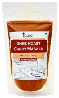 Ammikal Ghee Roast Masala Powder (120g) | 100% Veg | Use with Chicken, Prawns, Mutton, Paneer, Potato, Mushroom and More