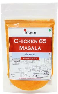 Ammikal Chicken 65 Masala (150g) | 100% Veg | Use with Chicken, Prawns, Paneer, Gobhi and More