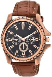 K&u Brown Analog Watch