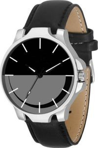 K&u Black Analog Watch