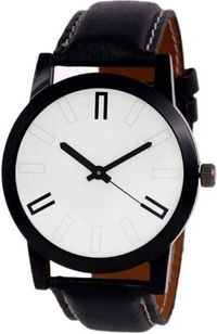 K&u White Analog Watch
