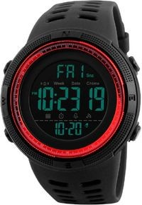 Skmei Red Dial Black Strap Digital Watch For Men