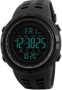 Skmei Black Dial Black Strap Digital Watch For Men