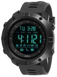 Sonuto Black Dial Black Strap Digital Watch For Men