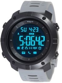 Sonuto Black Dial Grey Strap Digital Watch For Men