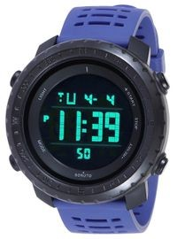 Sonuto Black Dial Blue Strap Digital Watch For Men