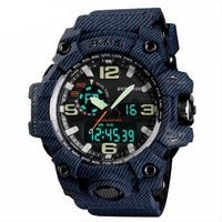 Skmei Blue Dial Blue Strap Analog-Digital Watch For Men