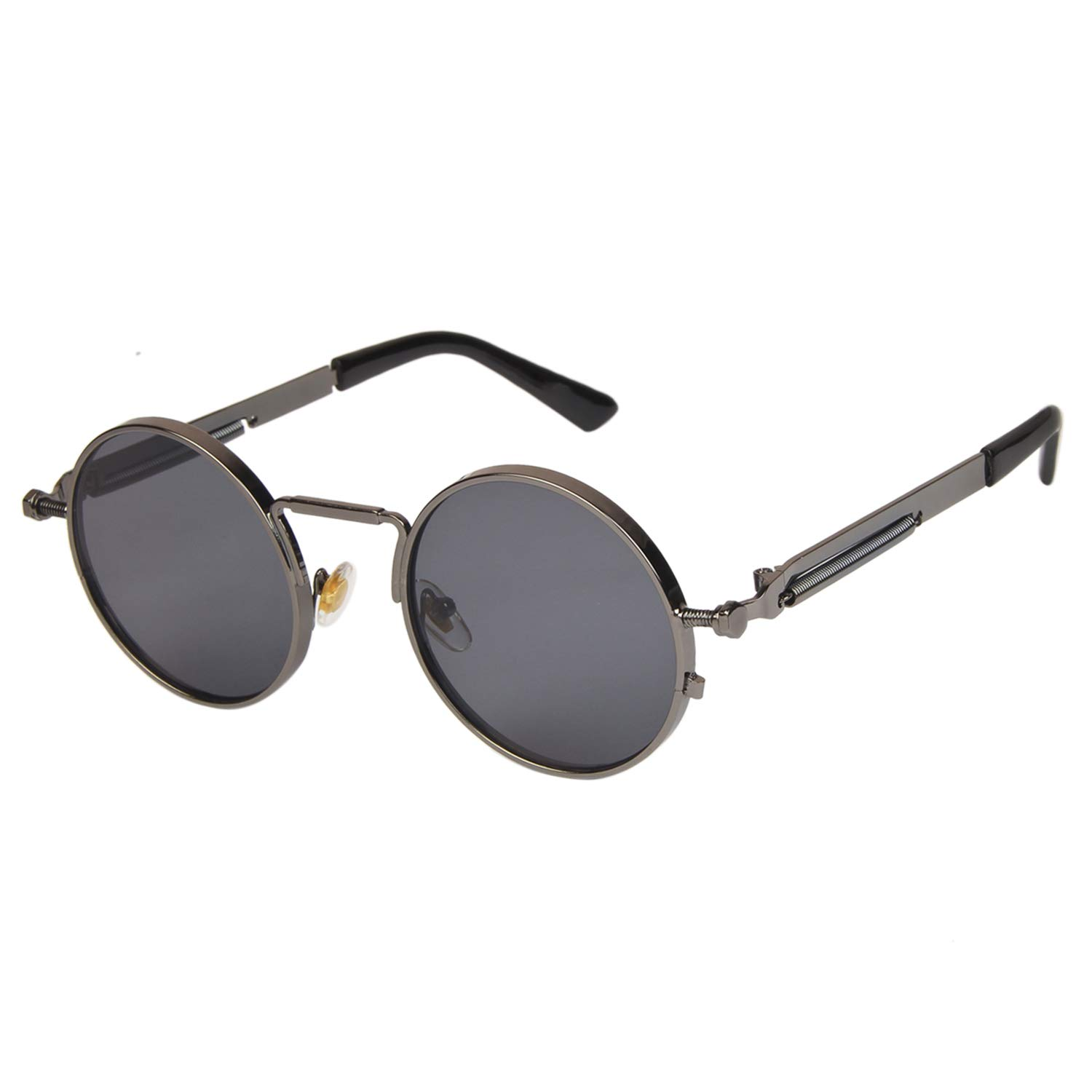 Arzonai Silver Steampunk Metal Sunglasses For Men And Women