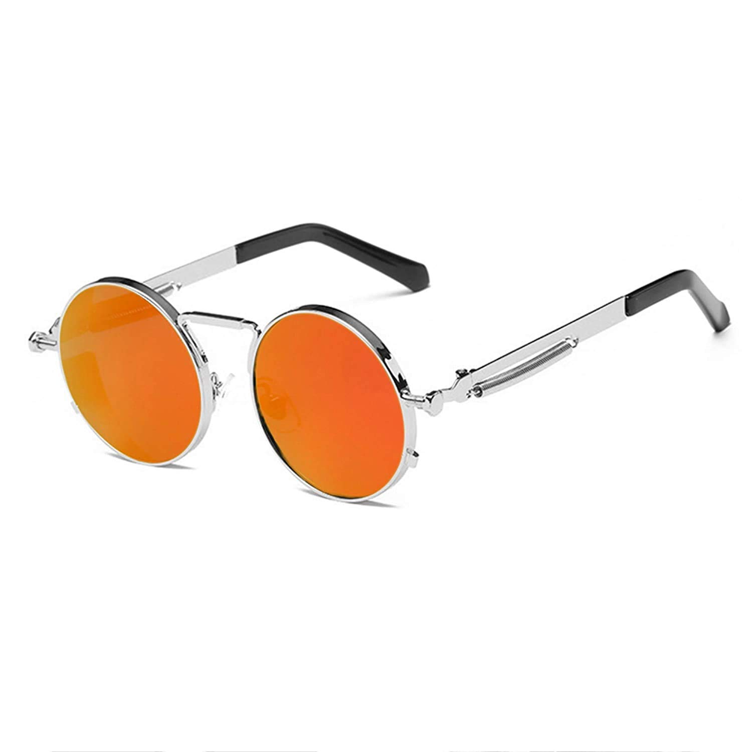 Arzonai Orange Steampunk Metal Sunglasses For Men And Women
