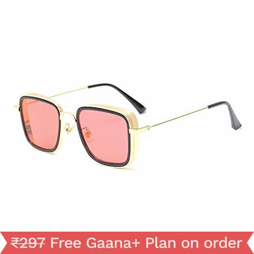 Arzonai Famous Carryminati Must Have Stylish Sunglasses For Men And Boys (Golden-Pink)