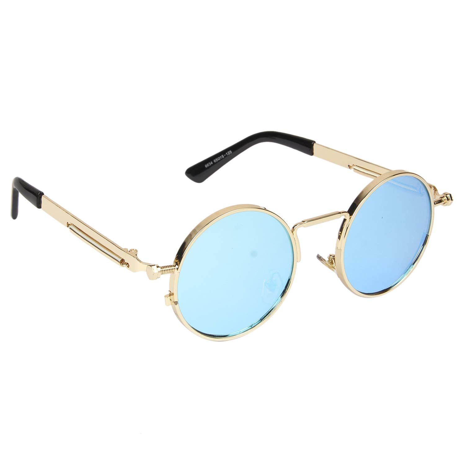 Arzonai Blue Steampunk Metal Sunglasses For Men And Women