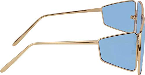 Arzonai Overisized Badshah | Sahil Khan Stylish Sunglasses For Men And Women Large (Gold-Skyblue)