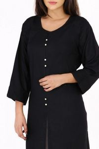 Fab Attire Black Rayon Kurti For Women