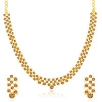 Sukkhi Fancy LCT Gold Plated Necklace Set for Women