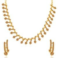Sukkhi Dazzling LCT Gold Plated Necklace Set for Women