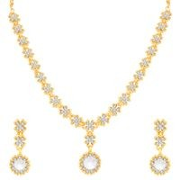 Sukkhi Gold Alloy Earring & Necklace Set