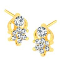 Shostopper Charming Gold Plated Austrian Diamond Earring