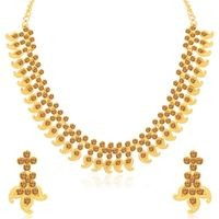 Sukkhi Delightful LCT Gold Plated Choker Necklace Set for Women