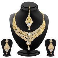 Sukkhi Gold Alloy Necklace Set