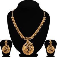 Sukkhi Resplendent LCT Gold Plated Peacock Necklace Set for Women
