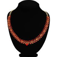 Sukkhi Beautiful LCT and Red Stone Gold Plated Necklace Set for Women
