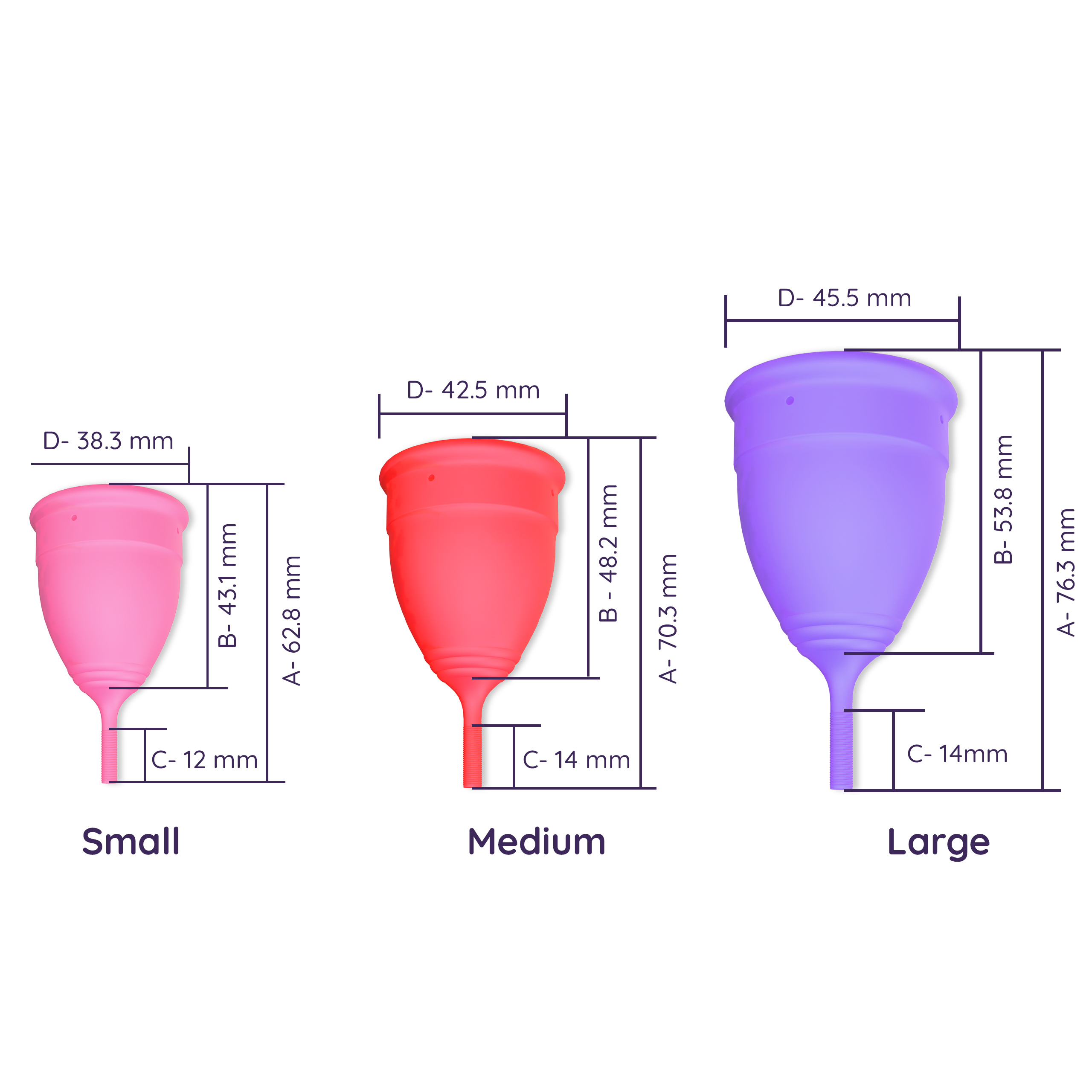 Sanfe Reusable Menstrual Cup with No Rashes, Leakage Or Odor - Premium Design for Women - Small (Pack of 2)