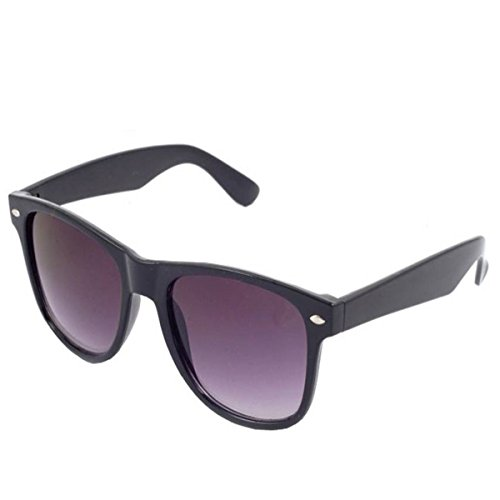 Silver Kartz Black Carbon Fiber UV Protection Aviators Sunglass For Men