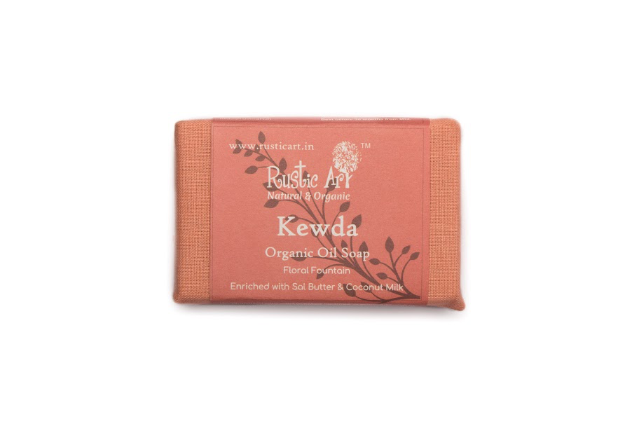 Rustic Art Organic Soap - 100 GM, Kewda