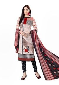 Venisa New Fashion Party Leon Beige Color Printed Unstitched Dress Material With Beautiful Printed Chiffon Dupatta