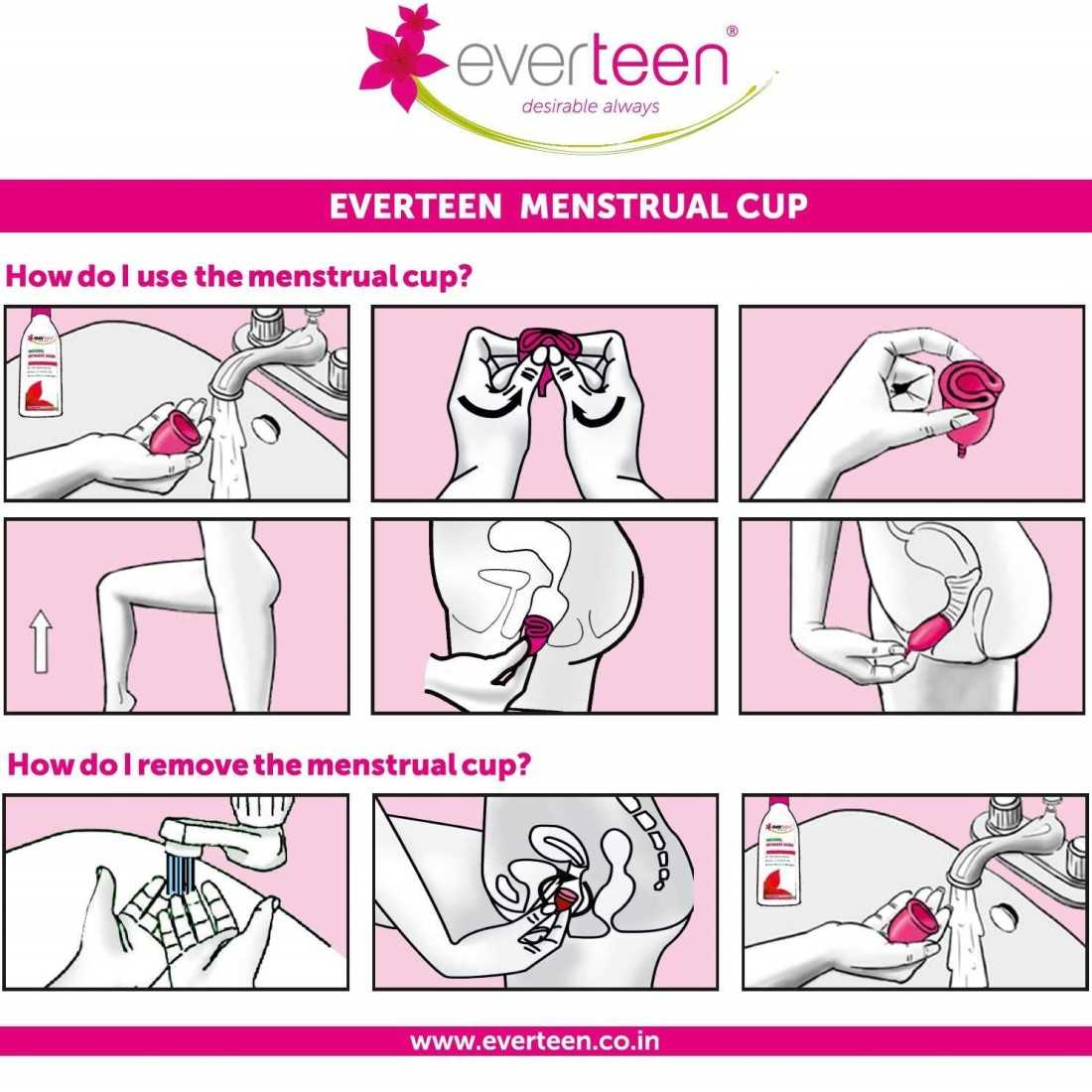 everteen Small Menstrual Cup for Periods in Women - 1 Pack (23ml capacity)