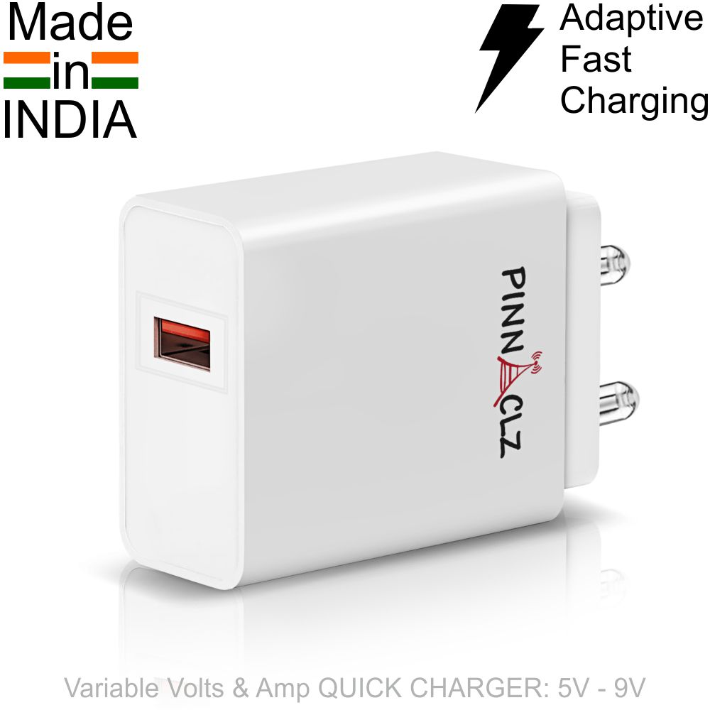 Pinnaclz Truly Made in India Adaptive Fast Charger Best for Samsung Phones Charger Fast Charging