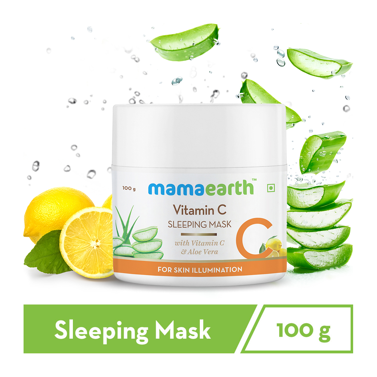 Vitamin C Sleeping Mask, Night Cream For Women, for Skin Illumination - 100 g