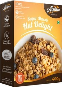 Alpino Super Muesli Nut Delight 400 G (Whole Grain Breakfast Cereal)