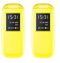 I Kall K3312 1.8 Inch Feature Phone - Yellow Pack Of 2