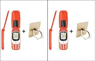 I Kall K3312 1.8 Inch Feature Phone - Red Pack Of 2