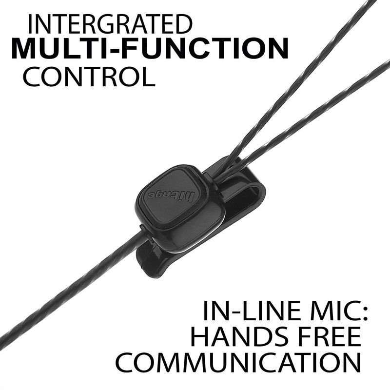 Hitage Super Bass Perfect Soundtrack Wired in-Ear Headphone Pack of 2 (Black)