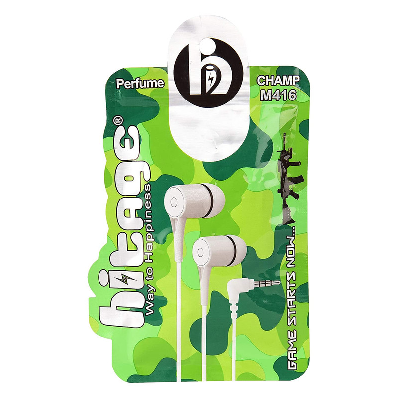 Hitage earphone Perfume M416 Champ Wired Headset (White, In the Ear)