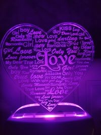 MOUNTHILLS Love Heart Night Lamp with 7 Color Changing 9 cm (Multiolor, Pack Of 1)