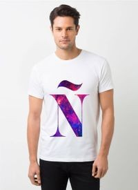 HamsaMART White Round Neck Printed T-Shirt For Men -T472