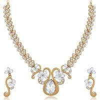 Sukkhi Glittering Mehandi Gold Plated Necklace Set for Women