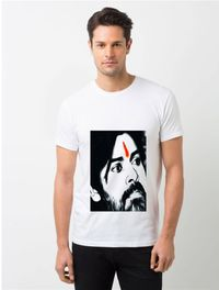 HamsaMART White Round Neck Printed T-Shirt For Men -T30