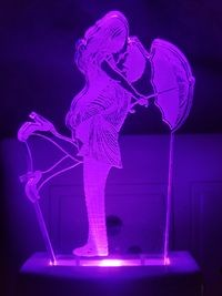 MOUNTHILLS Romantic couple & Umbrella Night Lamp with 7 Color Changing 9 cm (Multiolor, Pack Of 1)
