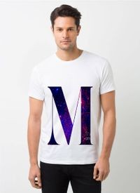 HamsaMART White Round Neck Printed T-Shirt For Men -T474