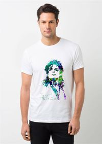 HamsaMART White Round Neck Printed T-Shirt For Men -T201